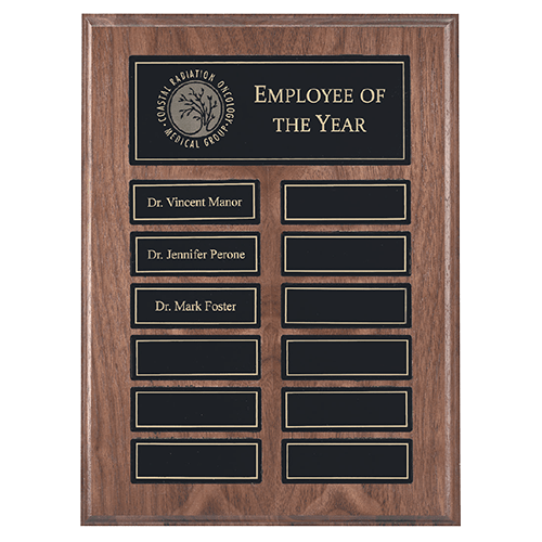 Walnut Perpetual Plaque with Recognition Pocket 1
