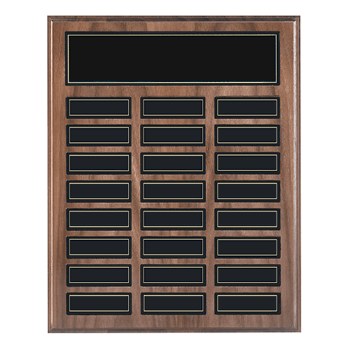 Walnut Perpetual Plaque with Recognition Pocket 2