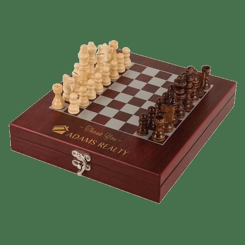 Rosewood Finish Chess Set 1