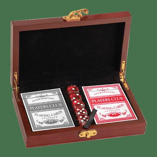 Rosewood Finish Card & Dice Set 1