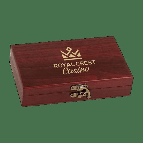 Rosewood Finish Card & Dice Set 2