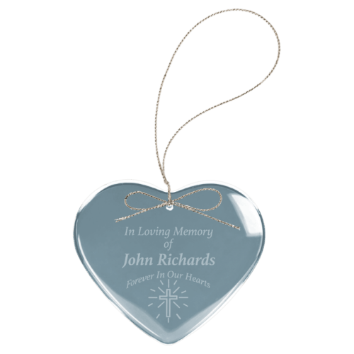 Crystal Heart Ornament 1