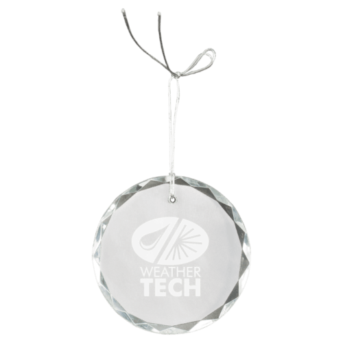 Round Facet Crystal Ornament 1