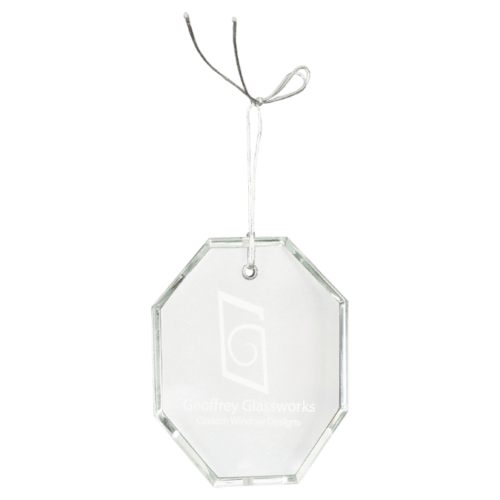 Octagon Crystal Ornament 1