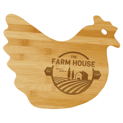 Bamboo Hen Cutting Board