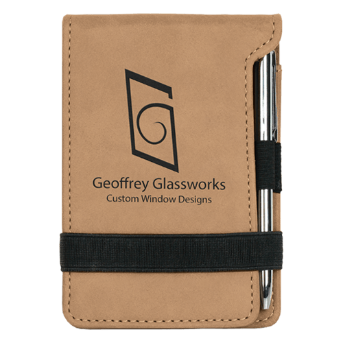 Leatherette Mini Pad with Pen - 15 Colors 1