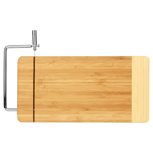 Bamboo Cutting Board with Cheese-Cutter