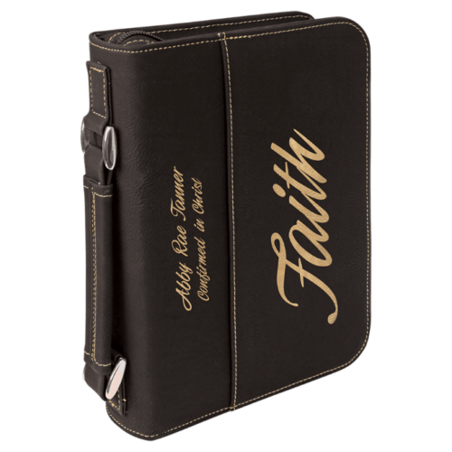 Leatherette Book/Bible Cover with Handle & Zipper - Multiple Colors & Sizes 4