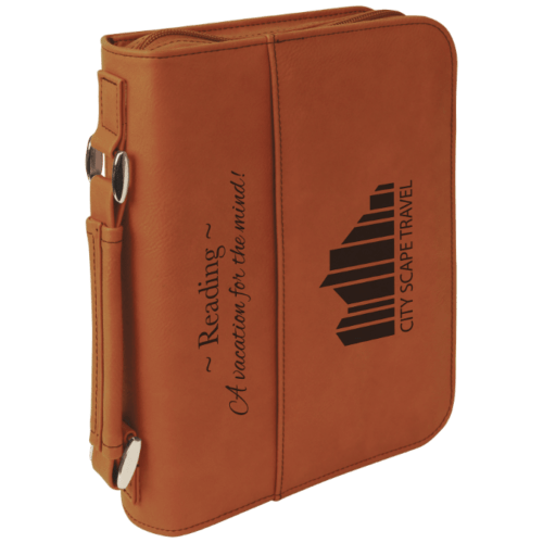 Leatherette Book/Bible Cover with Handle & Zipper - Multiple Colors & Sizes 5
