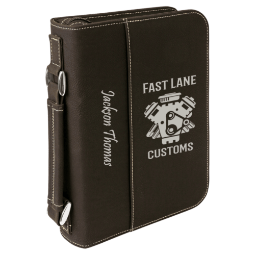 Leatherette Book/Bible Cover with Handle & Zipper - Multiple Colors & Sizes 7