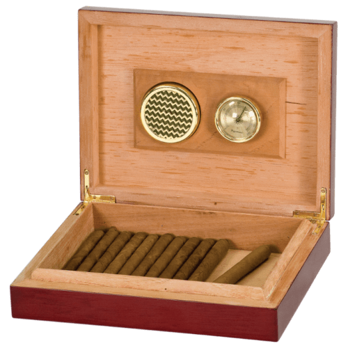 Personalized Spanish Cedar Humidor with Hygrometer & Humidifier 1