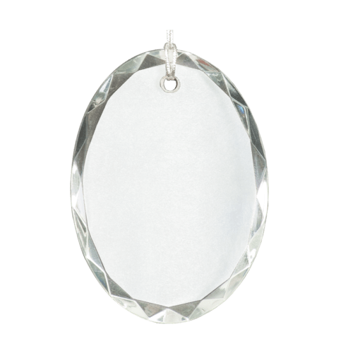 Oval Facet Crystal Ornament 2