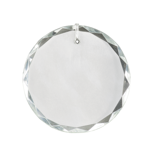 Round Facet Crystal Ornament 2