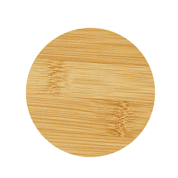 Round Bamboo 6-Coaster Set with Holder 2