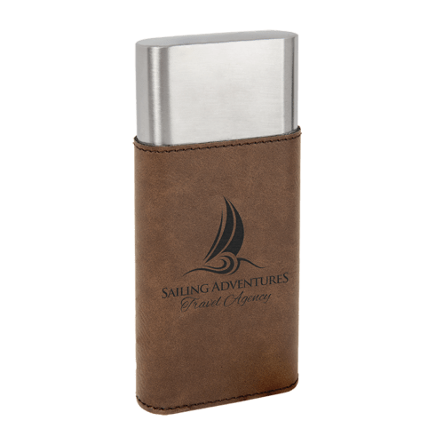 Leatherette Wrapped - Stainless Steel Cigar Case & Cutter - 7 Colors 3