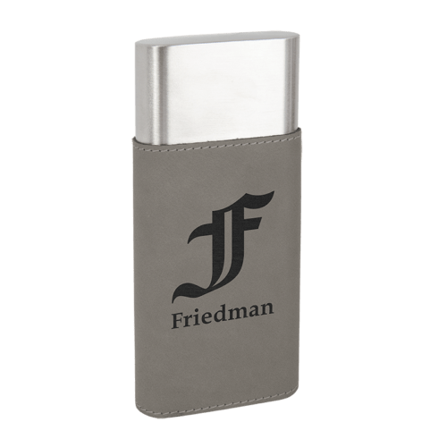 Leatherette Wrapped - Stainless Steel Cigar Case & Cutter - 7 Colors 5