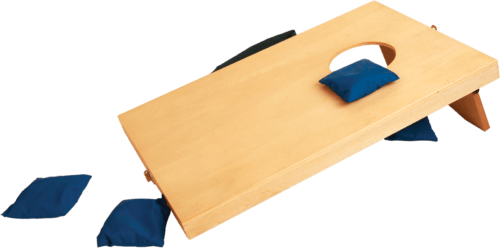 Mini Wood Bag-Toss Game with 4 Red & 4 Blue Bags 2