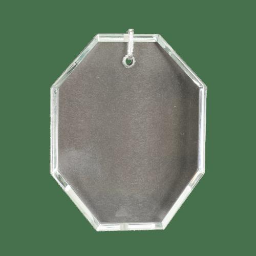 Octagon Crystal Ornament 2