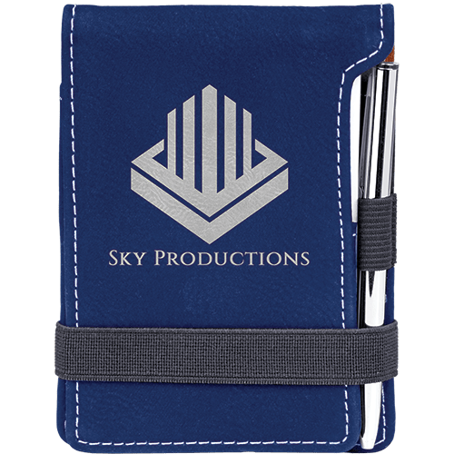 Leatherette Mini Pad with Pen - 15 Colors 15