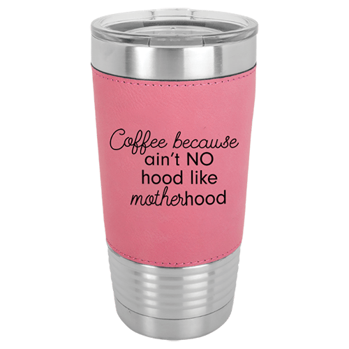 20 oz. Leatherette Wrapped Insulated Tumbler with Clear Lid - 9 Colors 1