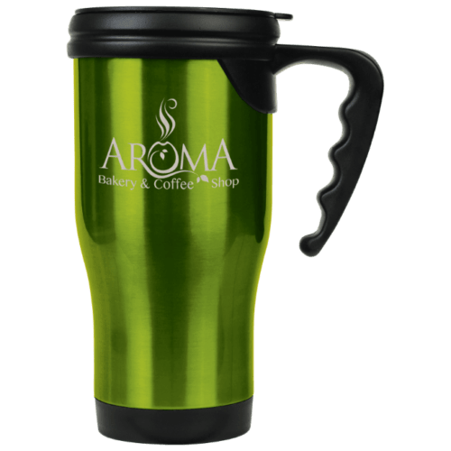 Personalized Travel Mug with Handle (16 oz.)
