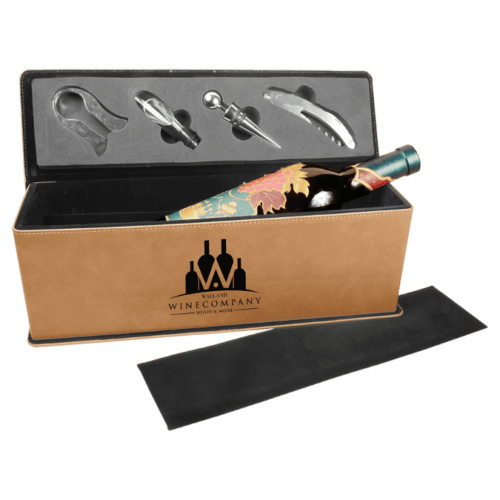 Personalized Single Wine Box with 4 Tools - 10 Colors 2