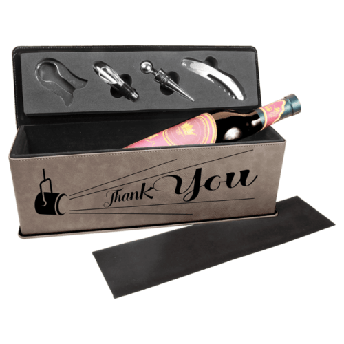 Personalized Single Wine Box with 4 Tools - 10 Colors 6