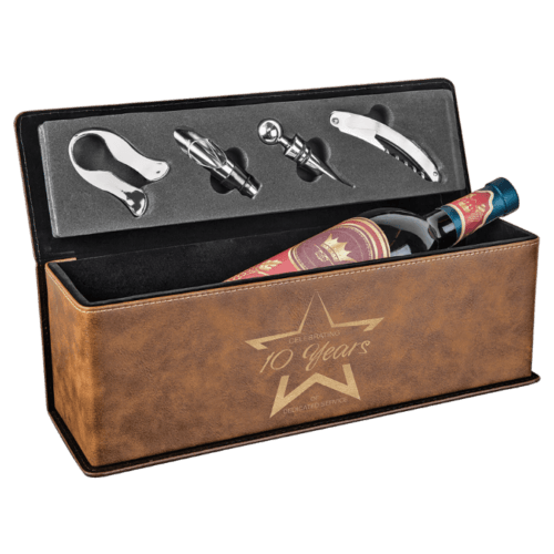 Personalized Single Wine Box with 4 Tools - 10 Colors 9