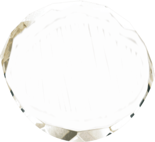 Oval Crystal Paperweight 2