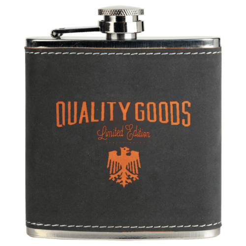 6 oz. Leatherette Personalized Flask - 15 Colors 2