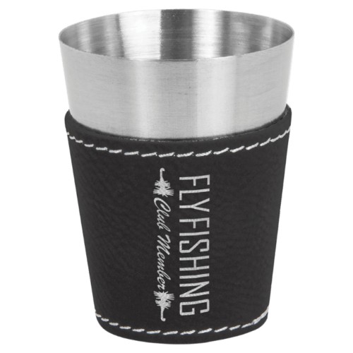 2 oz. Leatherette Wrapped Stainless Steel Shot Glass - 9 Colors 6