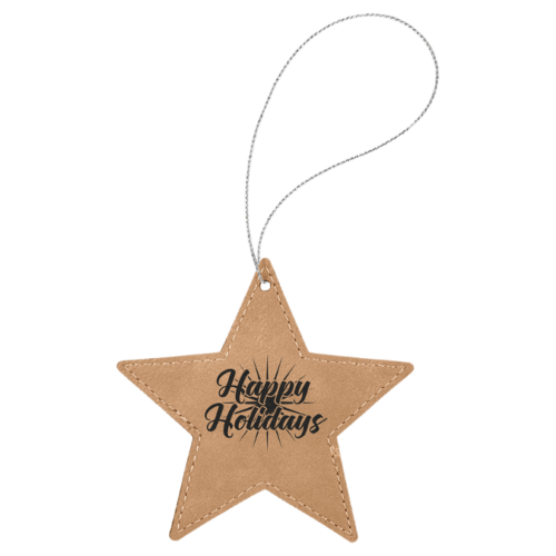 Leatherette Star Ornament - 8 Colors 2