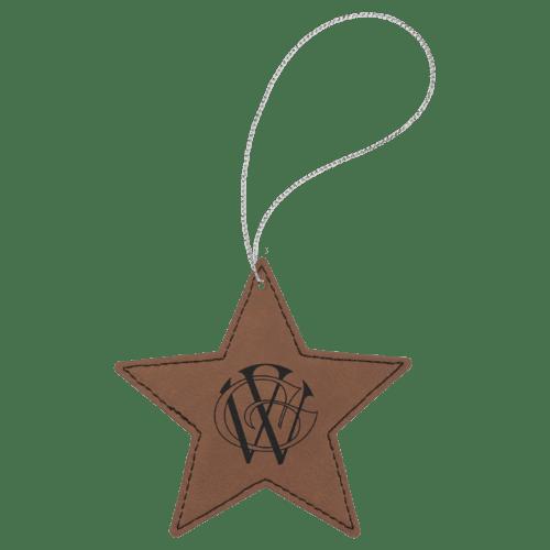 Leatherette Star Ornament - 8 Colors 3