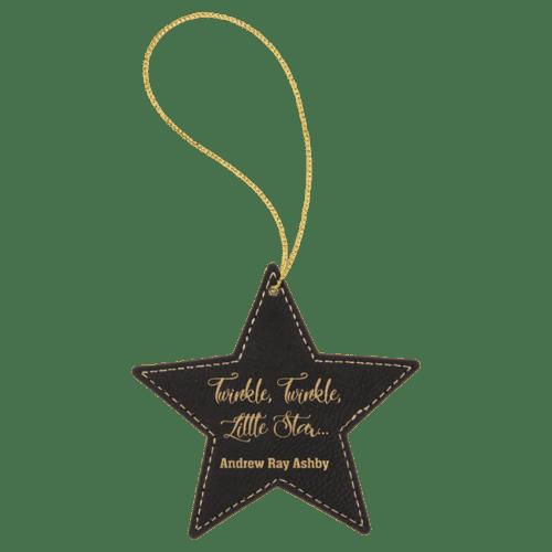 Leatherette Star Ornament - 8 Colors 4