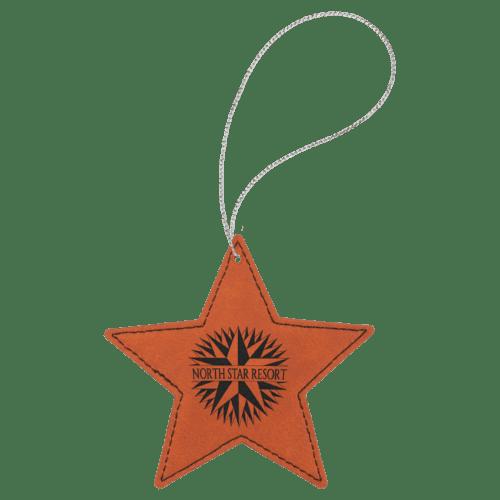 Leatherette Star Ornament - 8 Colors 5