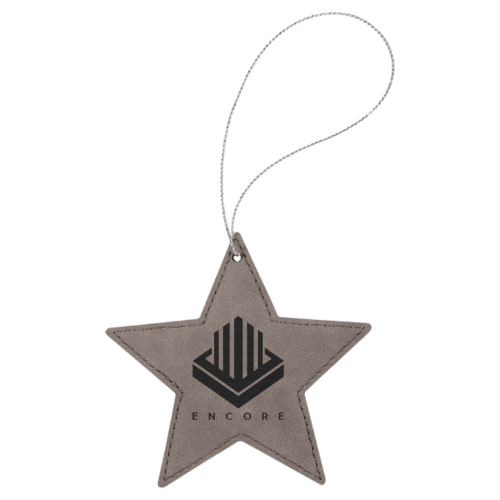 Leatherette Star Ornament - 8 Colors 6