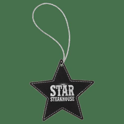 Leatherette Star Ornament - 8 Colors 7