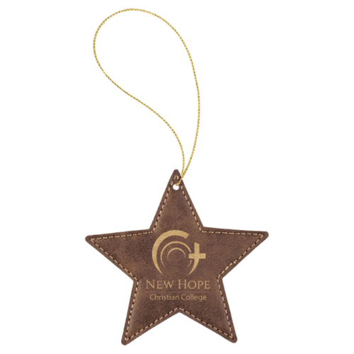 Leatherette Star Ornament - 8 Colors 8