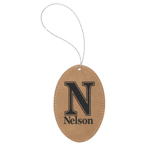 Leatherette Oval Ornament - 8 Colors 2