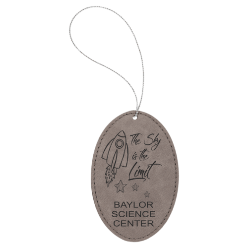 Leatherette Oval Ornament - 8 Colors 1