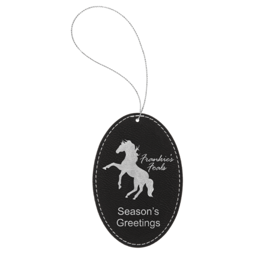 Leatherette Oval Ornament - 8 Colors 7