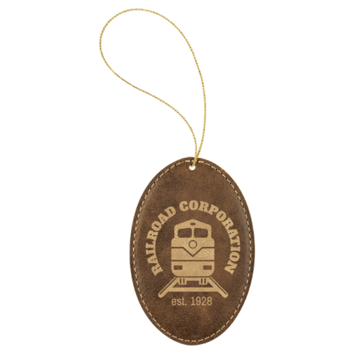 Leatherette Oval Ornament - 8 Colors 8