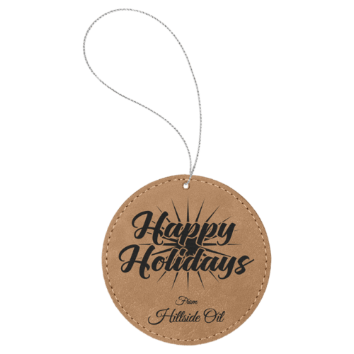 Leatherette Round Ornament - 8 Colors 2