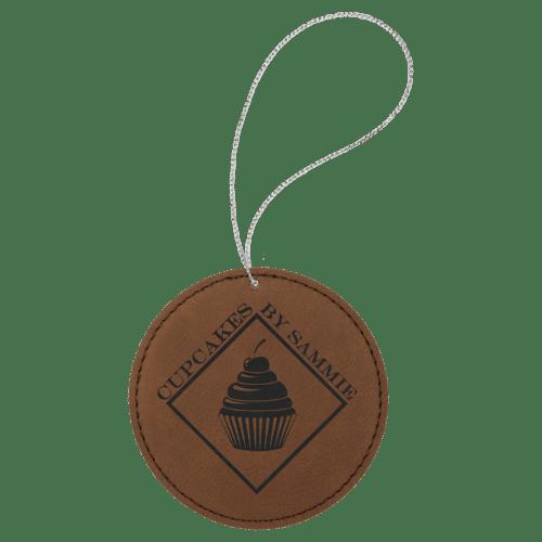 Leatherette Round Ornament - 8 Colors 3