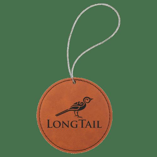 Leatherette Round Ornament - 8 Colors 5