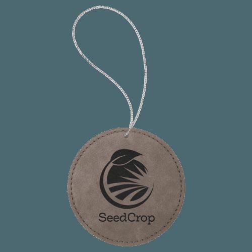 Leatherette Round Ornament - 8 Colors 6