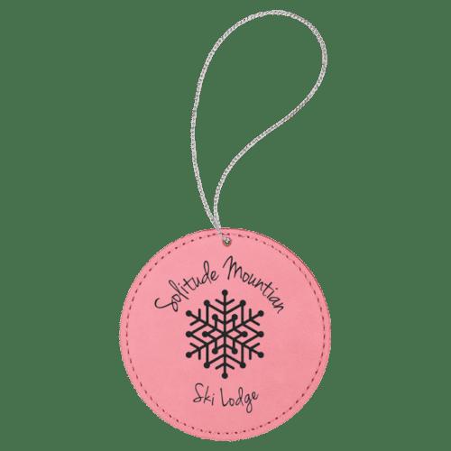 Leatherette Round Ornament - 8 Colors 7