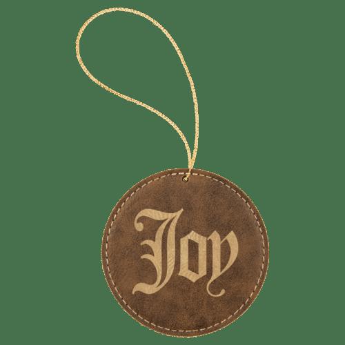 Leatherette Round Ornament - 8 Colors 1