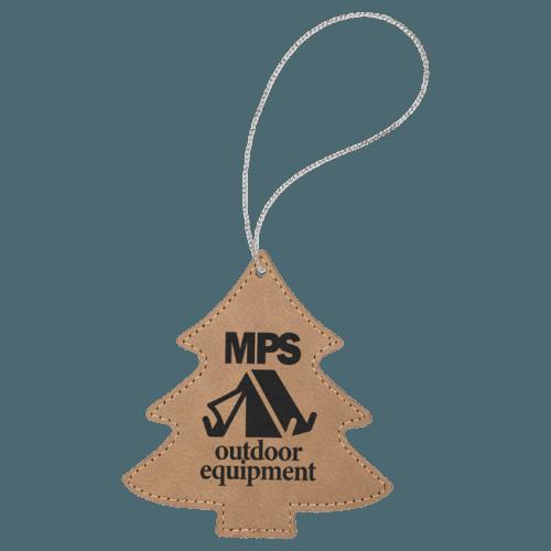 Leatherette Tree Ornament - 8 Colors 2