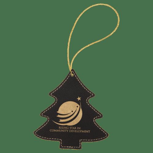 Leatherette Tree Ornament - 8 Colors 4